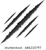 claws scratches with animal... | Shutterstock .eps vector #686210797