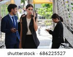 businessmen walking on the... | Shutterstock . vector #686225527