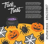 halloween day   vector... | Shutterstock .eps vector #686233807
