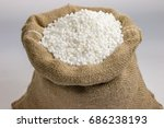 Small photo of Pearl Sago ( Sabudana ) in jute sack