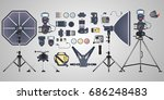 vector set of photography... | Shutterstock .eps vector #686248483