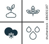 harmony icons set. collection... | Shutterstock .eps vector #686301187