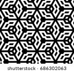 seamless abstract islamic... | Shutterstock .eps vector #686302063