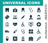 medicine icons set. collection... | Shutterstock .eps vector #686305153