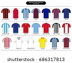 english football clubs    home... | Shutterstock .eps vector #686317813