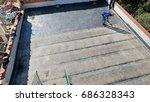 roof repairs 1 | Shutterstock . vector #686328343
