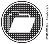 folder icon in trendy flat... | Shutterstock .eps vector #686329177
