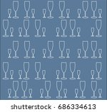 background with glasses for wine | Shutterstock .eps vector #686334613