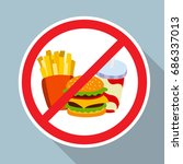no hamburger  french fries and... | Shutterstock .eps vector #686337013