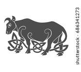 ancient celtic mythological... | Shutterstock .eps vector #686341273