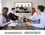 group of business people doing... | Shutterstock . vector #686342803