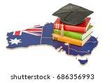 education in australia concept  ...   Shutterstock . vector #686356993