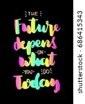 hand lettering the future... | Shutterstock .eps vector #686415343