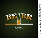 beer is loading with a half... | Shutterstock .eps vector #686428777
