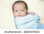 portrait of a cute multi racial ... | Shutterstock . vector #686435563