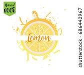 fresh lemon juice logo in vector | Shutterstock .eps vector #686442967