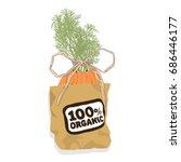 paper bag with vegetables.... | Shutterstock .eps vector #686446177