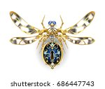 mechanical insect with steel... | Shutterstock .eps vector #686447743