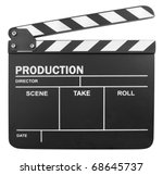 clapper board isolated on white ... | Shutterstock . vector #68645737
