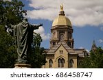 the golden dome atop the main... | Shutterstock . vector #686458747