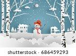 vector illustration of snow.... | Shutterstock .eps vector #686459293