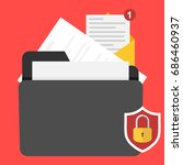 a folder with the security... | Shutterstock .eps vector #686460937