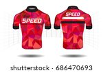 cycle jersey.cycling shirt... | Shutterstock .eps vector #686470693