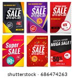 sale banners collection | Shutterstock .eps vector #686474263