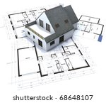 architectural model on top of... | Shutterstock . vector #68648107