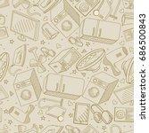 electronics retro seamless... | Shutterstock . vector #686500843