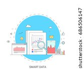 smart data  research  and... | Shutterstock .eps vector #686506147