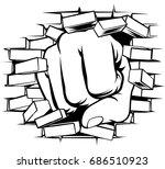 a pop art comic book cartoon... | Shutterstock .eps vector #686510923