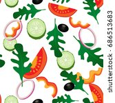 vector illustration. vegetable... | Shutterstock .eps vector #686513683