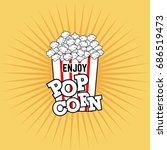 pop corn vector | Shutterstock .eps vector #686519473