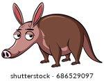 anteater with sleepy eyes... | Shutterstock .eps vector #686529097