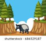 anteater in the mountain... | Shutterstock .eps vector #686529187