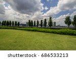public rooftop outdoor garden | Shutterstock . vector #686533213