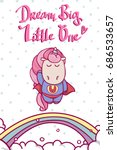 cute hand drawn card with... | Shutterstock .eps vector #686533657
