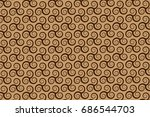 vector pattern with swirling... | Shutterstock .eps vector #686544703
