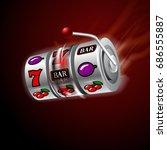 casino slot machine in motion... | Shutterstock .eps vector #686555887