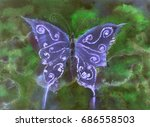 Butterfly In Shades Of Blue...