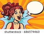 close up joyful woman | Shutterstock .eps vector #686574463