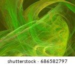 green  toned abstract fractal... | Shutterstock . vector #686582797