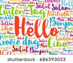 hello word cloud in different... | Shutterstock .eps vector #686593033