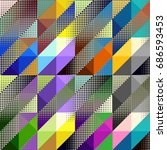 seamless background. geometric... | Shutterstock .eps vector #686593453