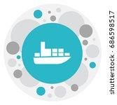 vector illustration of shipment ... | Shutterstock .eps vector #686598517