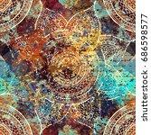 vector square background.... | Shutterstock .eps vector #686598577