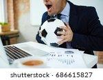 businessman watching online...   Shutterstock . vector #686615827