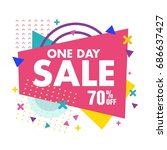 sale banner  big sale. discount ... | Shutterstock .eps vector #686637427