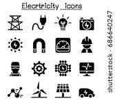 electricity industrial icons | Shutterstock .eps vector #686640247